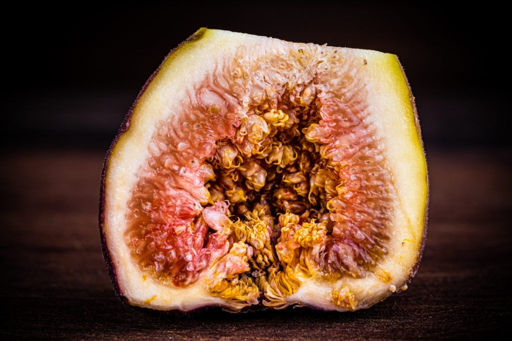 the inside of a fig