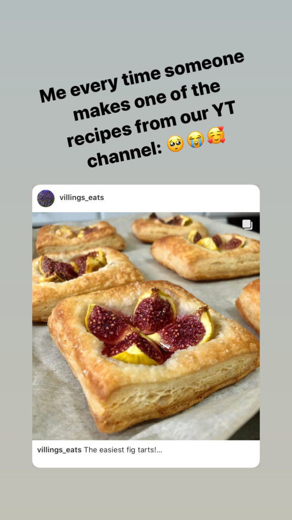 instagram story screenshot of me sharing someone's post where they made my recipe