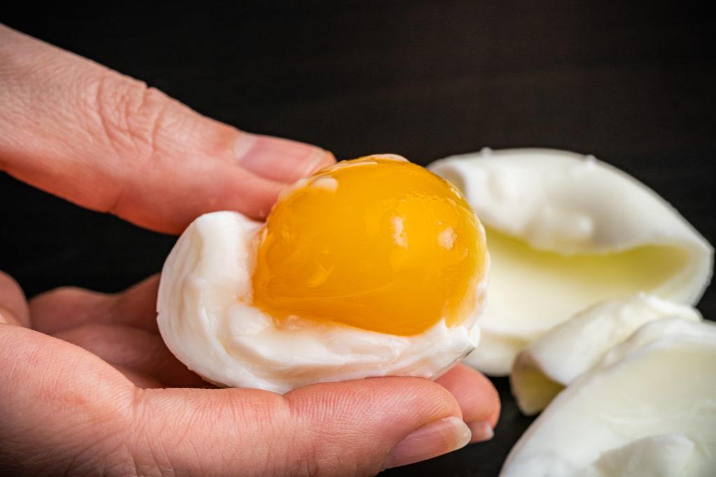 soft boiled brined egg yolk