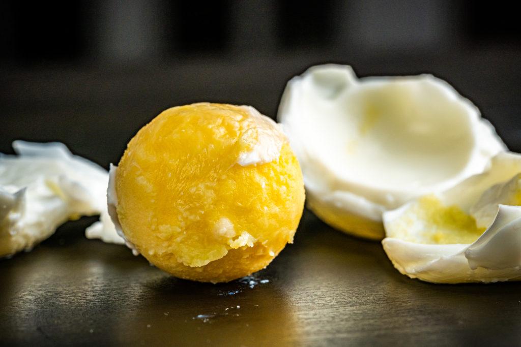 hard boiled brined egg yolk