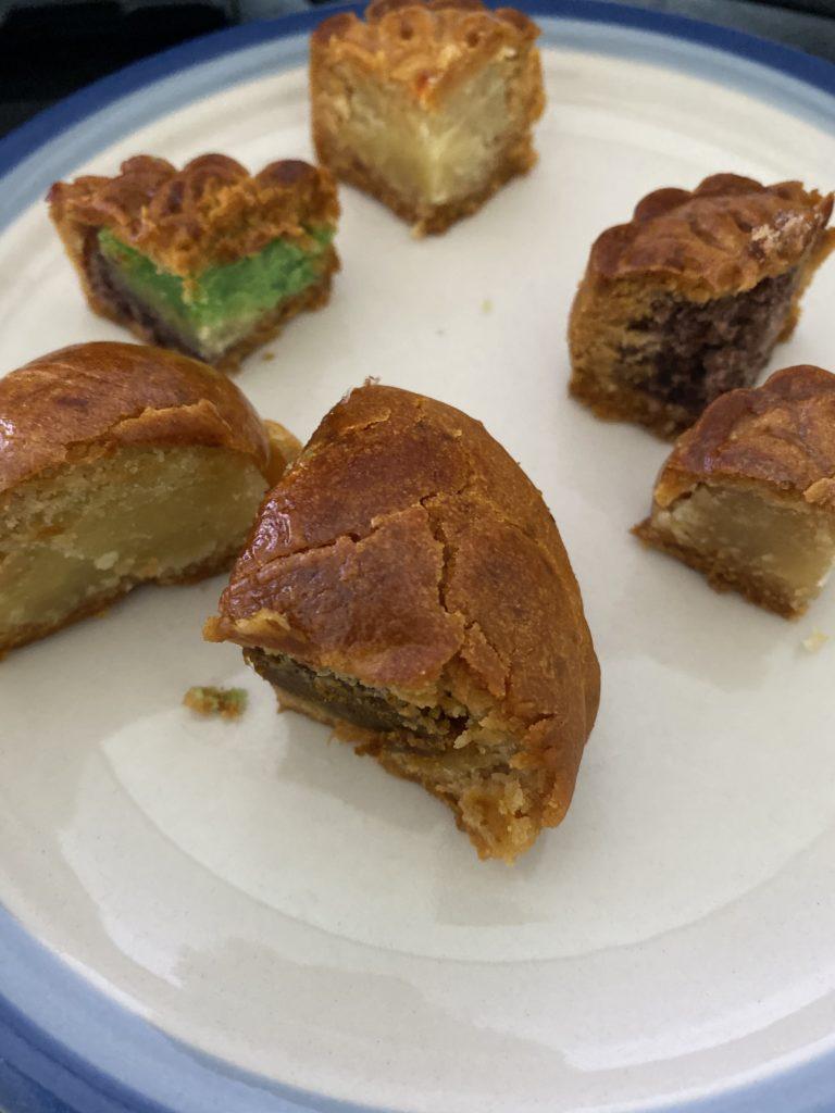 quartered mooncakes