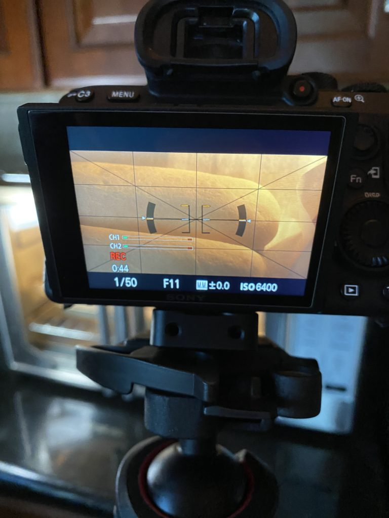 filming bread baking