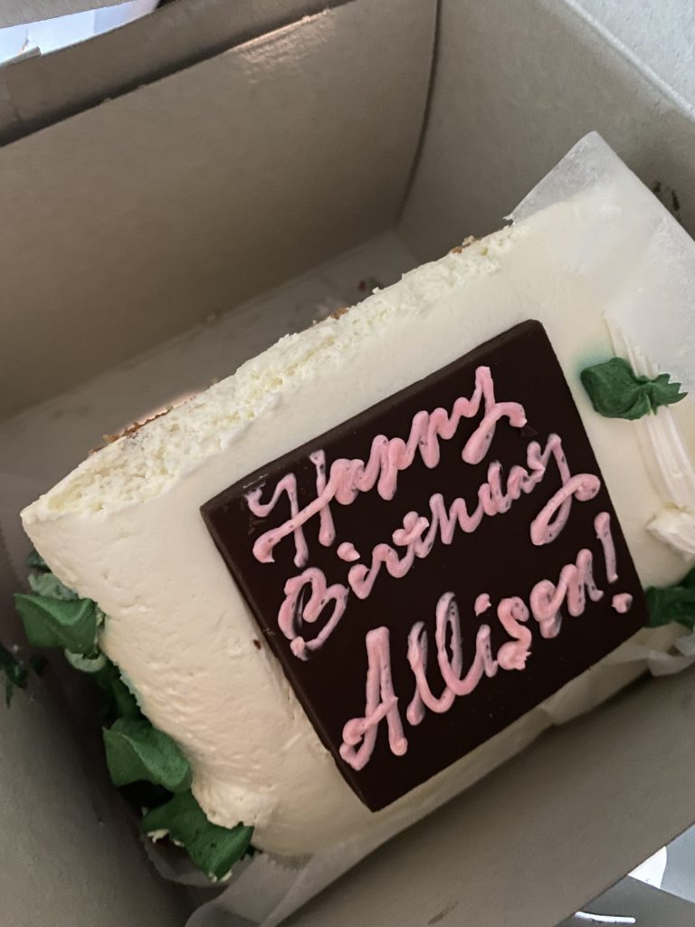 "a cake with ""happy birthday allison"""